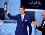 فيديو وصور: رونالدو يفوز بجائزة الفيفا لأفضل لاعب في عام 2016.. وهكذا علق على غياب لاعبي برشلونة