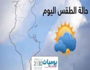 حالة الطقس المتوقعه ليوم الاثنين في المملكة