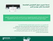 المديرية العامة للجوازات تستقبال طلبات إصدار التصاريح الإلكترونية دون الحاجة لمراجعة الجوازات
