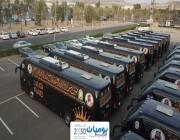 وزارة الشؤون الإسلامية والدعوة والإرشاد تجهيز مئات الحافلات الحديثة المزودة بالشاشات التفاعلية لإرشاد الحجاج بلغات عالمية