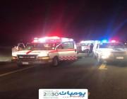 13 مصاباً في حـادث تصادم مروع بين 7 مركبات على طريق مكة ــ جدة