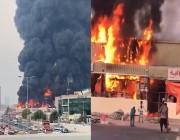 الإمارات.. حريق ضخم في سوق شعبي بعجمان