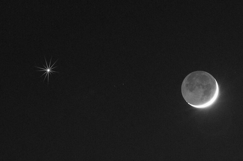 القمر يقترن بكوكب الزهرة في سماء المملكة .. التفاصيل هنا !!